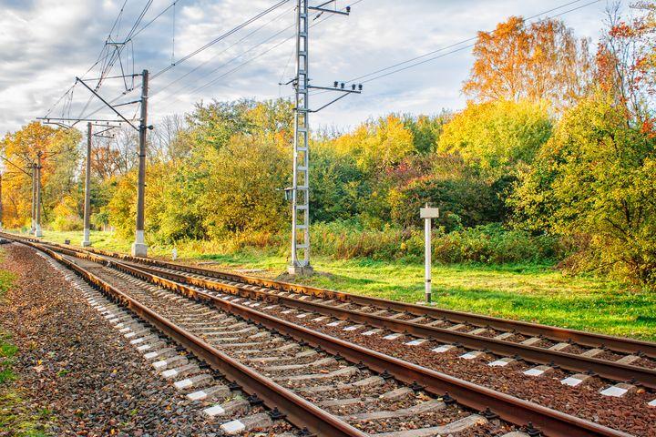 railway in the autumn forest - Radomir
