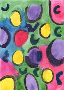 abstract colored spots