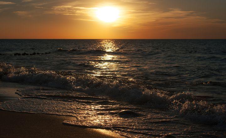 sunset at the sea on autumn - Radomir