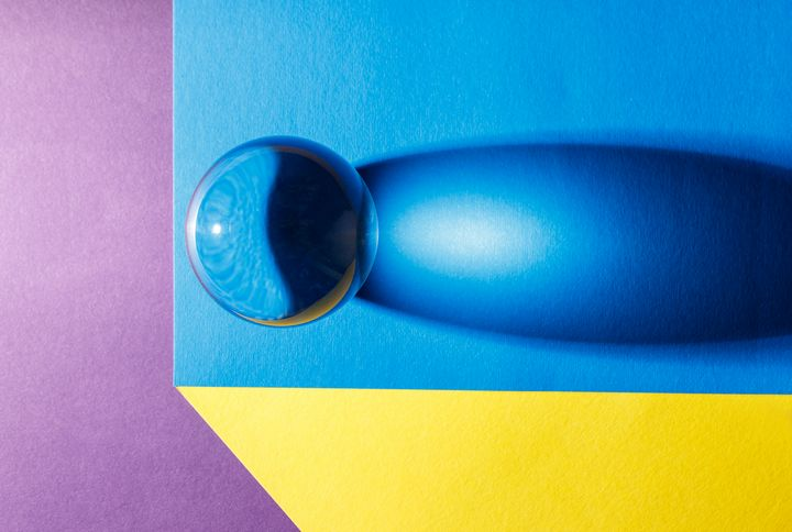 big glass ball on the table - Radomir