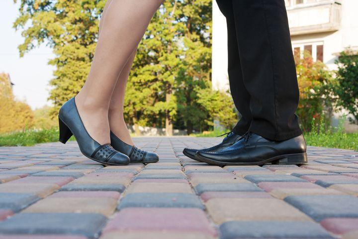 legs of man and woman on a romantic - Radomir