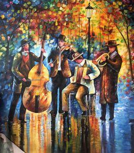 Modern art musician painting