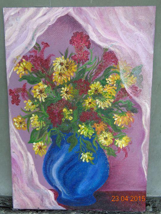 Flowers and a Curtain - Sofija