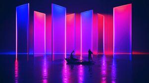 Neon ship