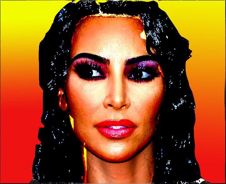 Kim Kardashian West dark hair sunset - tarama chabot
