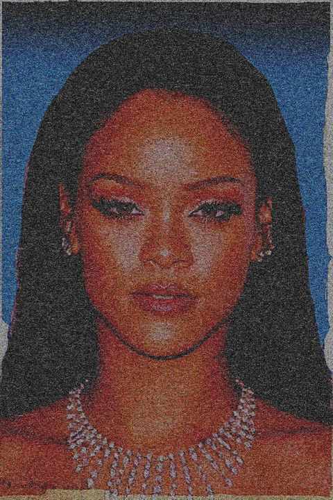 Rihanna dark blue background - tarama chabot