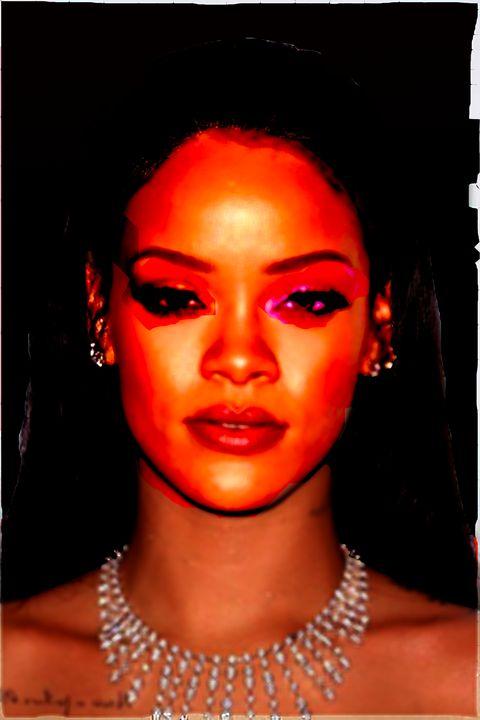 Rihanna black background - tarama chabot