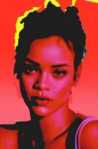 Rihanna red - tarama art