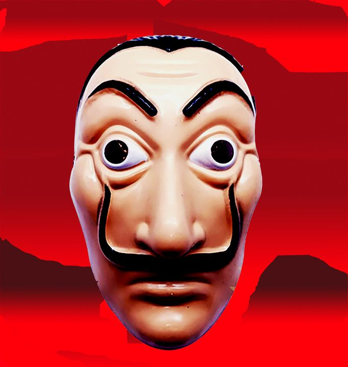 Dali mask la casa de Papel red grey - tarama chabot
