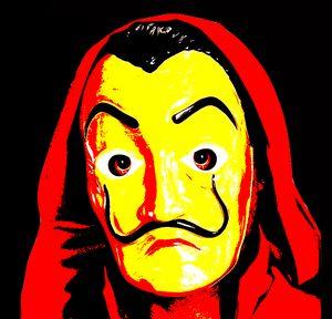 Dali mask casa de Papel portrait