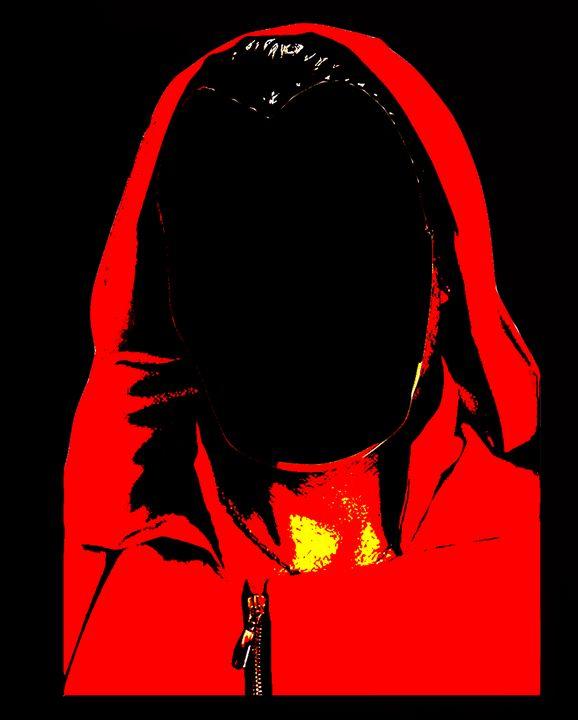 casa de Papel faceless red and black - tarama chabot