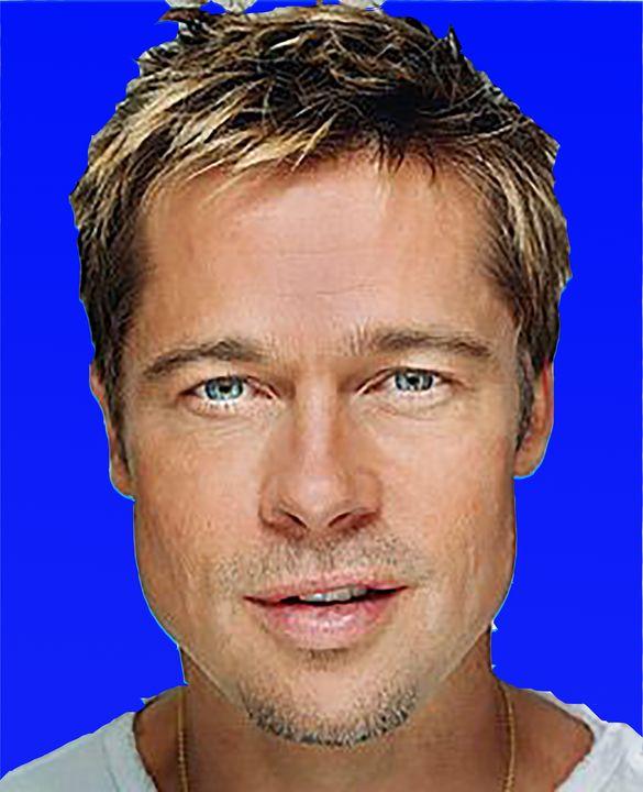 Brad Pitt blue background - tarama chabot
