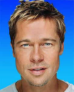 Brad Pitt blue light backgroup - tarama art