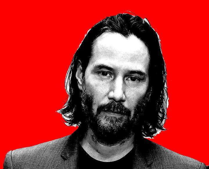 Keanu Reeves red background - tarama chabot