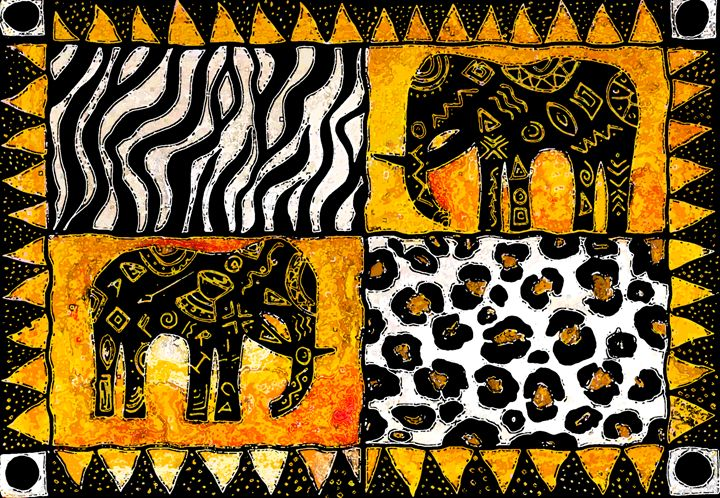 African elephants - Elizabeth Dalley