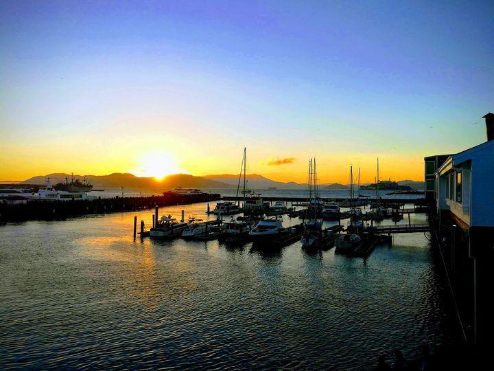 Pier Sunset - Art by Julia