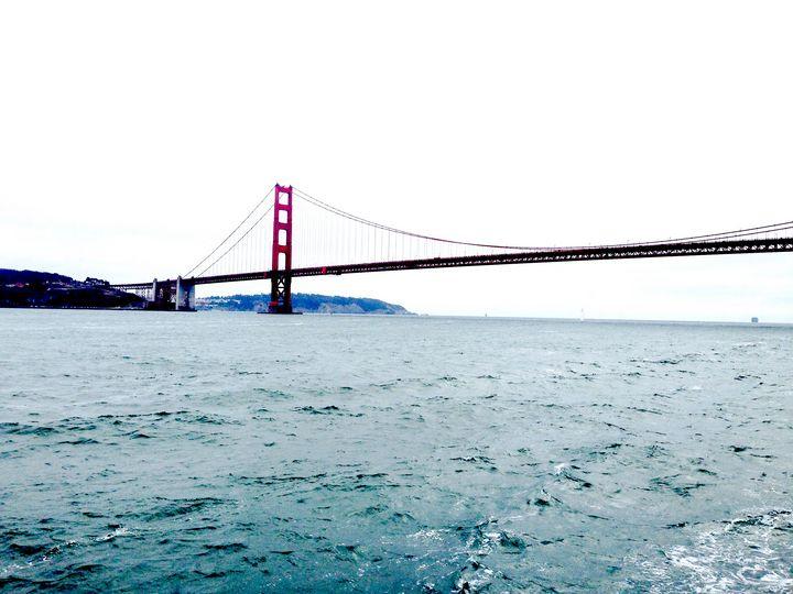 Peering Toward Golden Gate - Art by Julia
