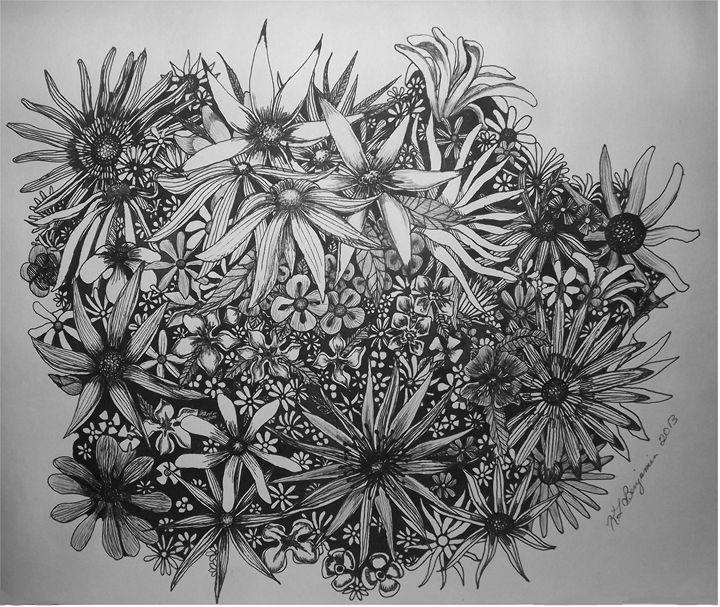 Wild Flowers - Digital Delights by Kristie Leigh Benjamin