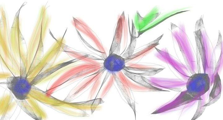 Flowers in Motion - Digital Delights by Kristie Leigh Benjamin