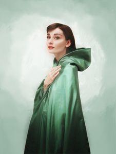 Audrey in Emerald