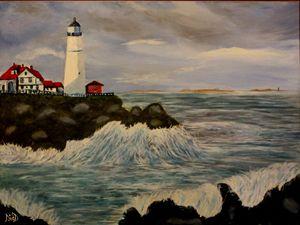 Portland Head Light - Oil Painting