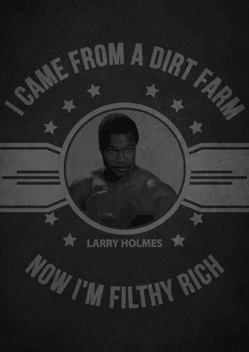 Larry Holmes Quote - Print_shop
