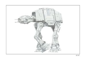 Imperial walker AT-AT star wars