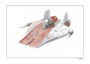 Star Wars A-wing fighter sketch
