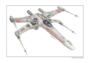 Incom T-65 X-wing from star wars