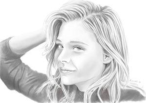 Chloe Moretz graphite portrait