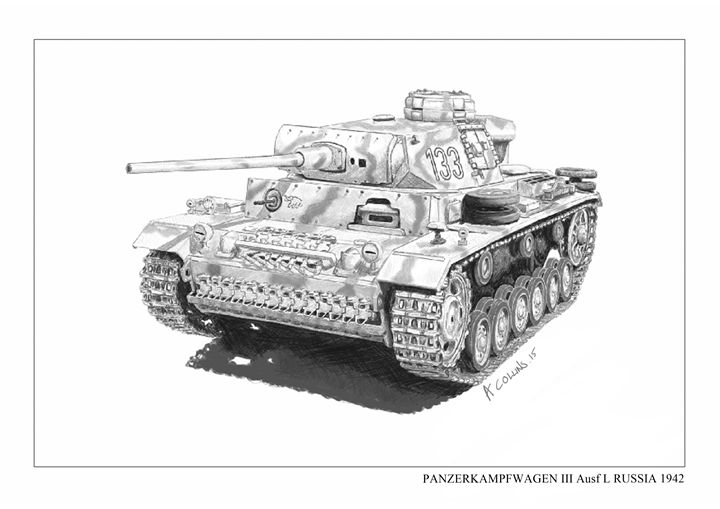 Panzer Mk III german tank WW2 - Andrews art and models