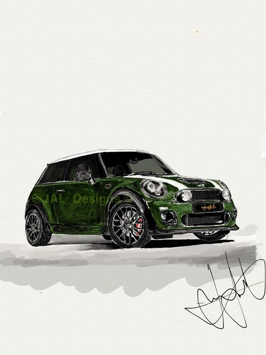Mini Cooper JCW iPad sketch - JAL Designs