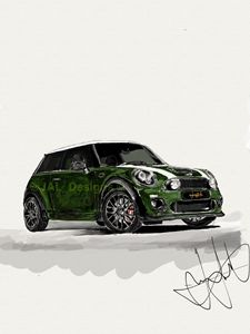 Mini Cooper JCW iPad sketch