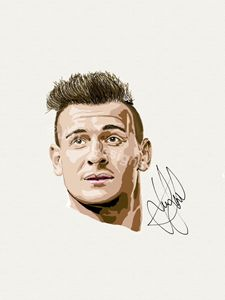 Danny Care England Rugby iPad Sketch