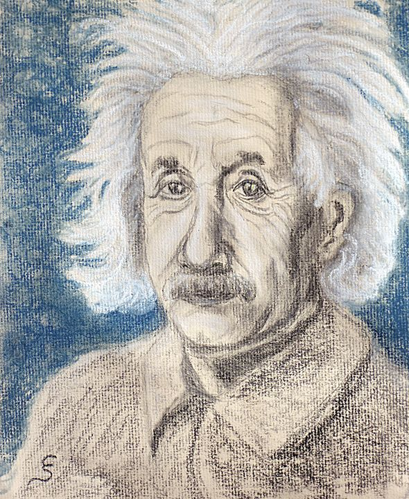 Albert Einstein Portrait - Cynthia Sjoberg