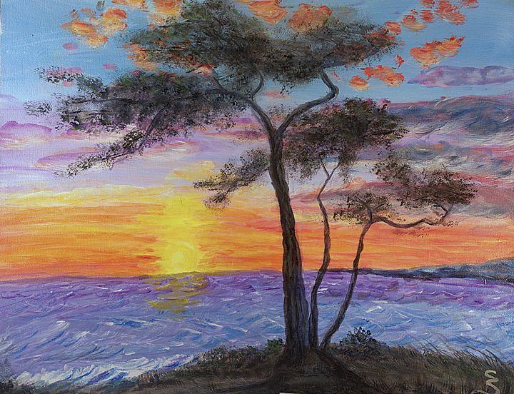 Caribbean Sunset - Cynthia Sjoberg