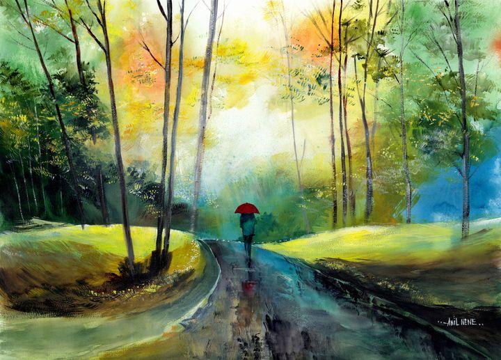 A Walk In The Rain - Neneart