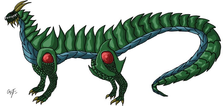 Big Wingless Green Dragon - Aziz Faheem