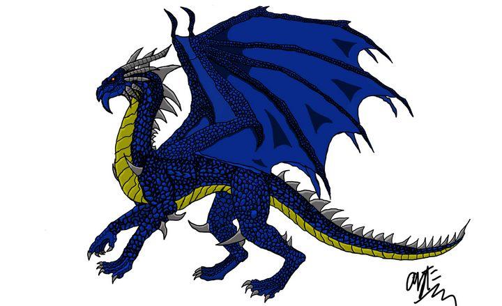 Blue dragon - Aziz Faheem
