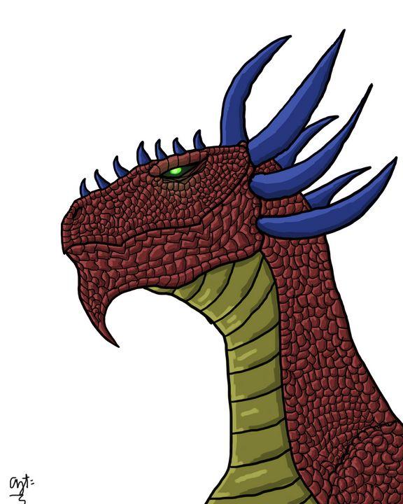 Red Dragon Head - Aziz Faheem