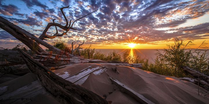 Sunset Over Sleeping Bear Dunes - JohnWaldronImages