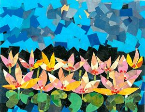 A Collage of Lotus flowers