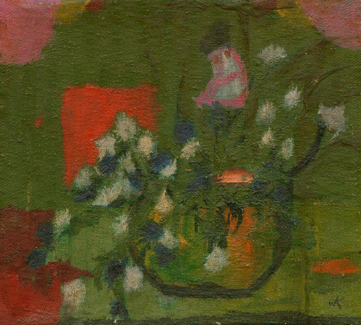flowers In A Vase - Wojtek Kowalski