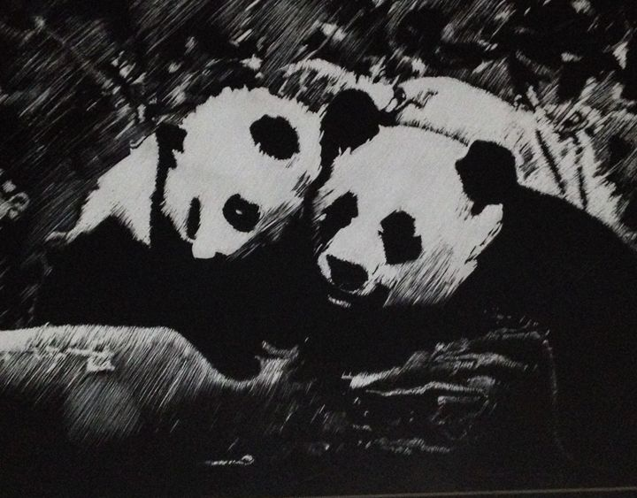 Panda Family - Xinni's Art World