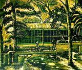 landscape,woodcut print
