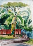 water color,painting house