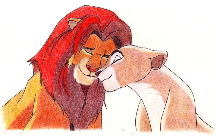 Simba and Nala - Venance Motema