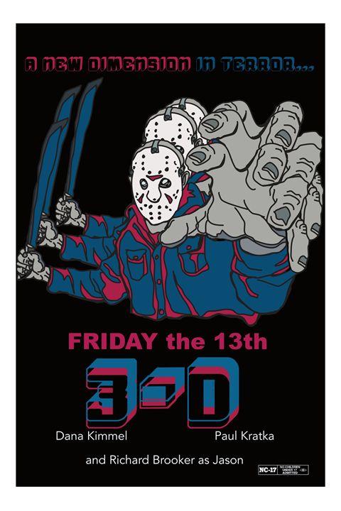 Friday the 13th 3D poster art - Mickey MacKenna Artist