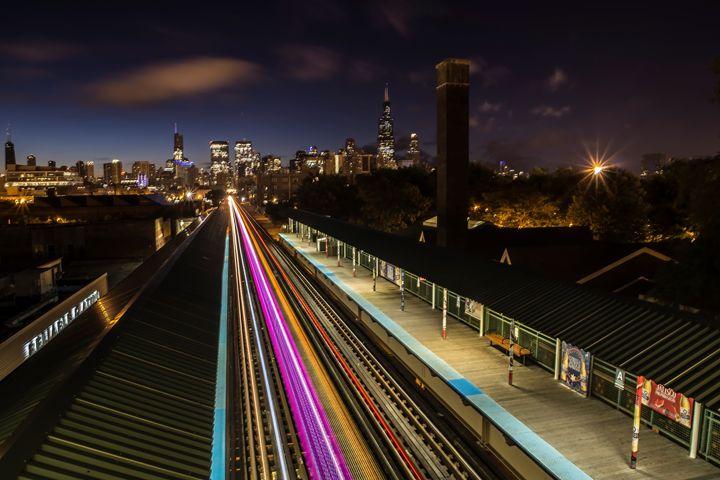 Chicago Skyline at dawn - Sven Brogren Photography