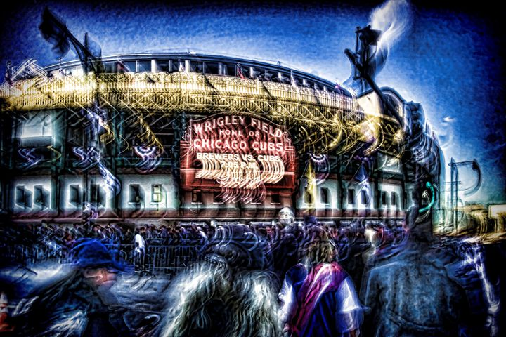 Cubs fans filing in for a night game - Sven Brogren Photography